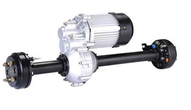 Rear Axle With Hydraulic Brake Differential Speed Permanent Magnet Dc Brushless Motor Used Axle