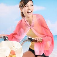 Free shipping Brand Chiffon 2014 New Sun Protection Pashmina Cape Sunscreen Protector Summer Scarf Fashion Style Shawls Women
