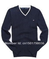 Мужской пуловер New Sweaters Men V-neck Sweater Polo Outwear Underwear Long Sleeve Knitted Sweater Men's ganting Pullovers