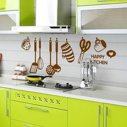 1set Transparent PVC Cooker Decals For kitchen Wall Tile