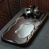 Calamander solid wood tea tray kung fu tea Large tea sea electromagnetic furnace rosewood tea tray