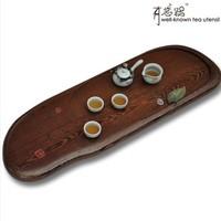 African wenge teaberries wood mahogany solid wood logs of wood tea tray pj-043