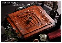 Black wood rosewood tea tray top drawer two-site teaberries wood tea set tea sea