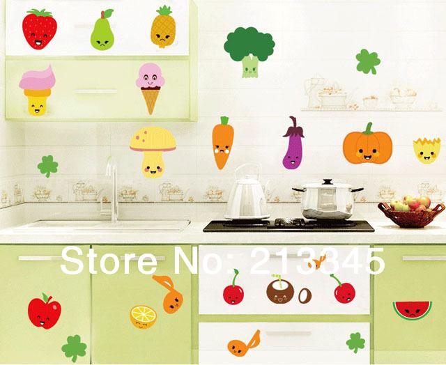 Keuken Decoratie Appel : cream muurstickers Promotie-Winkel voor promoties cream muurstickers