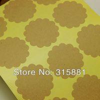 Scallop Kraft Stickers,Kraft Stickers, Scallop stickers , envelope seals stickers