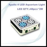 free ship 2pcs /lot Apollo 4 48*3W 120w 130w LED Aquarium Light For Coral and Reef Tank Aquarium LED Lighting Plant