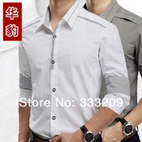Free shipping high quality 100% cotton Man dress mens shirt New Spring 2014 men's long sleeve slim fit shirts