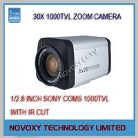 "Free Shipping 1/2.8"" Sony CMOS Sensor 1000TVL 30x Optical 3~90mm Varifocal Lens WDR HLC DNR Integrated Security CCTV Zoom Camera"