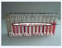 Free shipping MAKEUP KISSES Brillant Levres lip gloss lipgloss (24pcs/lot) 12 COLORS CHOOSE