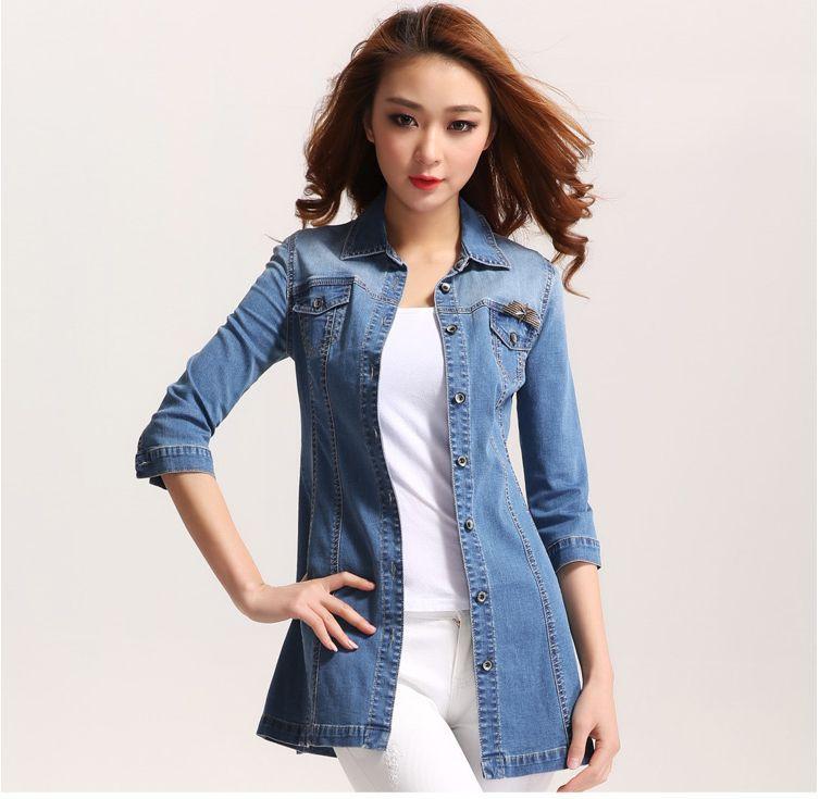Женские блузки и Рубашки  5162 женские джинсовые рубашки 2014