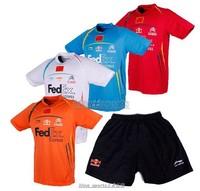 Free shipping Li-Ning Mens 2014 Badminton /Tennis Chinese team national flag Lin Dan T-Shirt +shorts