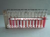 Free shipping MAKEUP KISSES Brillant Levres lip gloss lipgloss (12pcs/lot) 12 COLORS CHOOSE