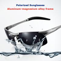 Aluminum-magnesium frame polarized polaroid driving ski fishing masculine black sunglasses men's car Driving sunglasses