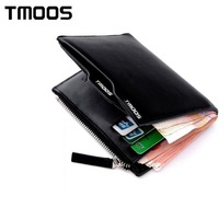 Big promotion 2014 new brief paragraph leather purse, fashion TMOOS brand wallet, hand bag, black, brown, blue wholesale
