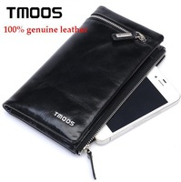 new 2014 TMOOS wallet restoring ancient ways, oil wax leather mobile phone bags, men's leather fashion purse,black wholesale
