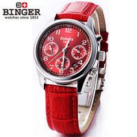 Brand Luxury Skeleton Analog Display Steel Red Watches Casual Women Leather Waterproof Wristwatch 2014 Trends Dress Wrist Watch