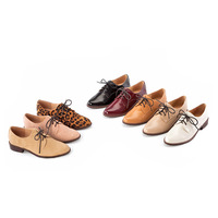 Hot selling fashion british style vintage women's shoes flat lacing shoes new 2014 shoelace shoes