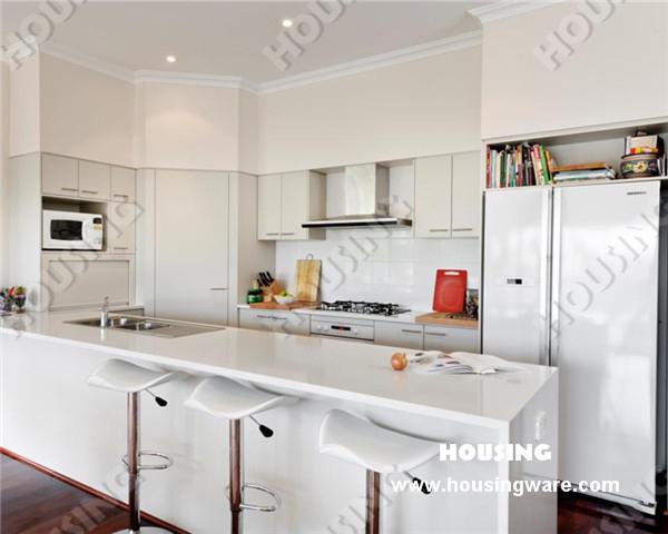 2014 hot venta laca pintada gabinetes de cocina blanco de - Pared cocina pintada ...