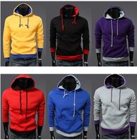2014 New Arrival Spring  Long sleeves Sweat shirts Men Slim fit Hoody Sport Casual Jacket Men Street Wear Coat  7 Color