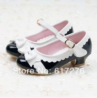 2015  fashion sneakers girls shoes children party shoes high heels shoes for girls mary jane shoes pink ,red ,black