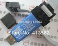 2PCS= 1pcs USBASP + 1 pcs download cable .. USBISP AVR Programmer USB ATMEGA8 ATMEGA128 Support Win7 64K with Cover 30365