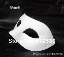 Wholesale - 120pc White Half Face Mask Halloween blank paper Zorro Mask DIY mask #H61(China (Mainland))