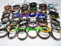 Free Shipping fashion Tribal Ethnic Leather Bracelets Wristband Surf Lots  Mix colors wholesale1lot=30pcs