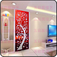 40*180cm 2014 New Euope Ikea Style Entranceway Larger Tree 2mm Thick Wall Mirror Acrylic Crystal Wall Stickers Home Decor W4