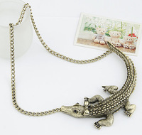Min.order is $10 (mix order),South Korea jewelry, fashion personality all-match House lizard necklace.Free shipping