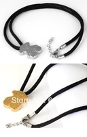 1pc  49cm 16g New Lovely Fashion Rope Extend Chain 316L Stainless Steel Silver Gold Little Bear Pendant Necklace For Girl Women