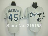 Chicago White Sox #45 Michael Jordan Throwback Baseball Jersey Embroidery Logos 48 50 52 54 56