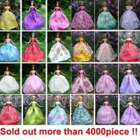 30items=10dress+10 shoes+10accessories Party Doll's Dress Clothes Gown For Barbie doll