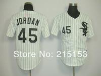 Chicago White Sox #45 Michael Jordan Throwback Baseball Jersey Embroidery Logos