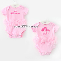Hot sell NWT Newborn Infant Baby Girl princess embroidery Ballet Posh Lace Rompers outfit 0-1Y
