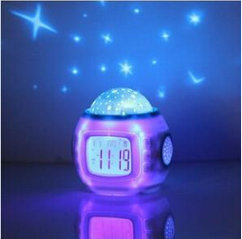 New Starry Sky Music Projector electronic calendar colourful creative multi-function LED Clock Hot 95269(China (Mainland))