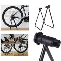 Aluminum Metal Bicycle Bike Triple Wheel Hub Stand Kickstand for Repair Parking Holder Folding Universal