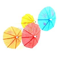 Free Shipping 100pcs Cocktail Paper Parasols Umbrellas Wedding Party Drink Supplies [5 4003-724_2]