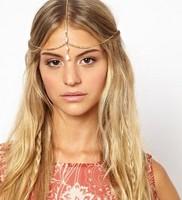 New 2014 wholesale bohemian vintage brand shell gold chain bijoux hairband wedding bridal hair accessories hair ornament