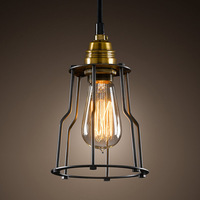 Loft american fashion brief vintage small hoaxed pendant light