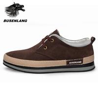 Busen suede casual skateboarding shoes men's fashion vintage warm shoes