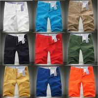 2014 Summer Fashionable Men's Casual Shorts Boardshorts Large Size 42 44 Cotton Shorts Men Korean Style 9 Colors Khaki Shorts