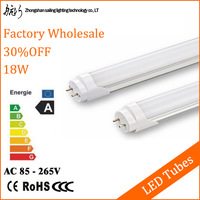CE RoHS ETL cETL LED Tube T8 1200mm 18W Light Bulb Pure White 1800lm 85-265V Aluminum Housing Free Fedex+24pcs