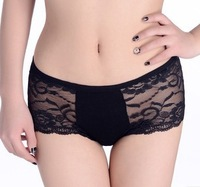 Free shipping 6pcs Free size panties  sexy underwear women Lace fashion briefs underwear lace Hollow out sexy lingerie
