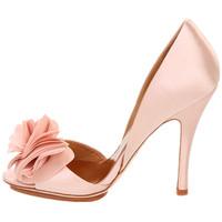 Freeshipping 2014 New  flower female high-heeled wedding shoes pink high-heeled shoes the bride shoes fashion bridal shoes black