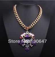 2014 New Designer Fashion jewelry Acrylic Shiny Elegant Plant Pendant Necklace For Christmas Gifts