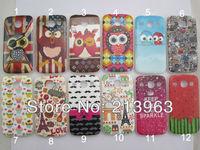 Sample Retail Gel TPU Love Owl ,cake ,cartoon design soft TPU back case cover for Samsung Galaxy Core i8260 i8262