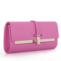 2014 New Fashion Style PU Leather Original Designer Brand Clutch Bags For Women Evening Bag Purse Chain Shoulder Bag Handbag