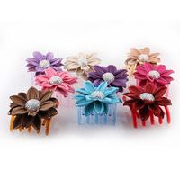 Hair accessory female hair maker rhinestone big hairpin hair accessory luxury flower gripper hair accessory