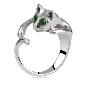 Wholesale 18K White Gold Plated Austrian Crystal Rings,Fashion Cat Rings,Fashion Wedding Jewelry,CCWMG977403243(China (Mainland))