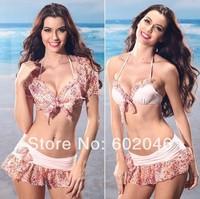Retail print bikini swimwear Set suit Women in new 2014 free shipping